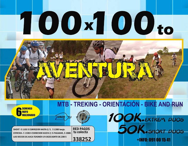 Aventura 100x100to (fecha AUCA, Maldonado, 06/may/2018)