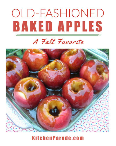 Baked Apples, another time-tested recipe ♥ KitchenParade.com, a fall tradition, simple and cinnamony with a luscious sauce.