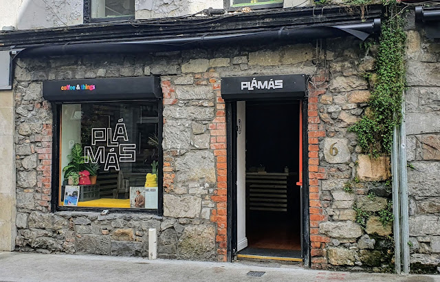 shop-front of Plámás Galway cafe and gallery