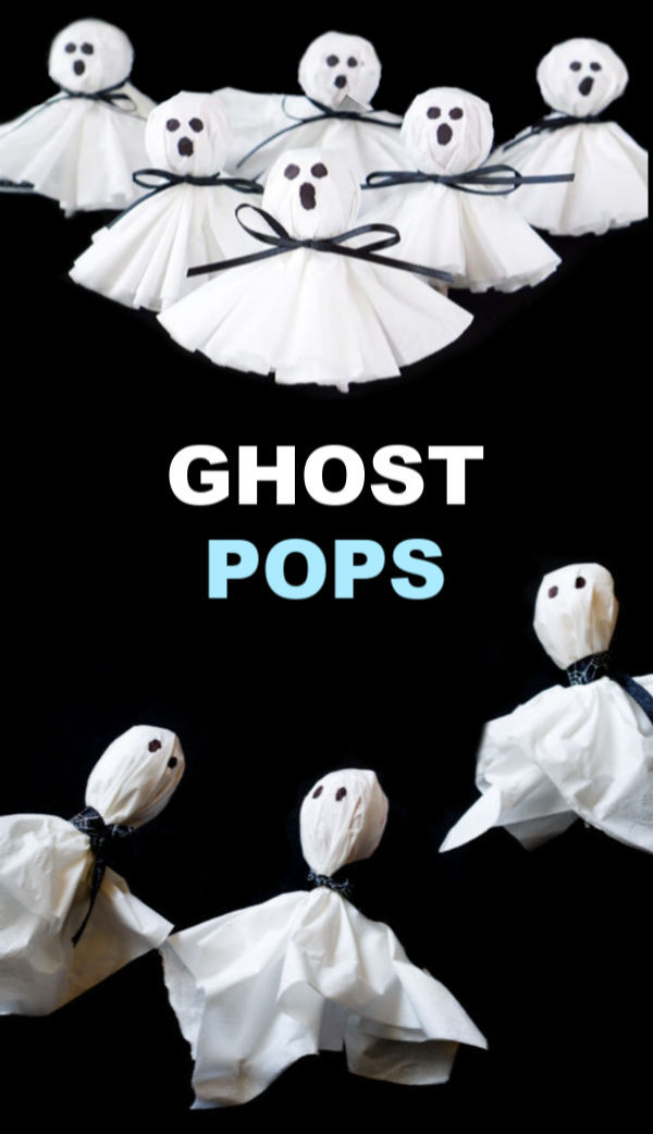 How to make ghost lollipops for kids Halloween party favors and more. #ghost #ghostlollipops #ghostlollipopshalloween #ghostlollies #ghostpops #halloweentreats #halloweentreatsforschool #lollipopghosts #lollipopghostcraft #ghostcraftsforkids #ghostcrafts #growingajeweledrose #activitiesforkids