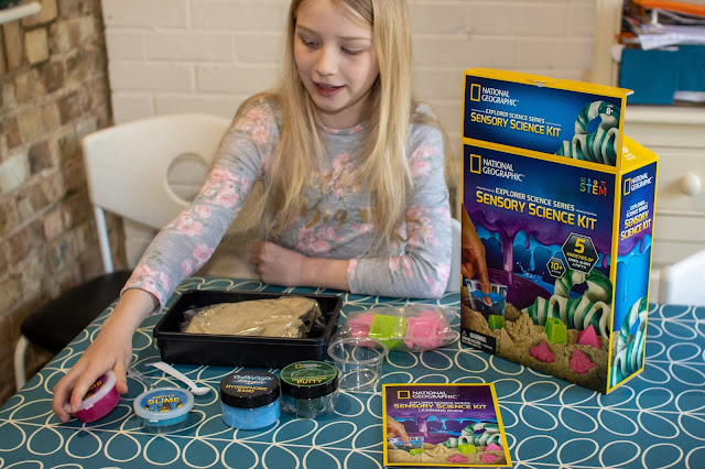 The contents of the Sensory Slime kit