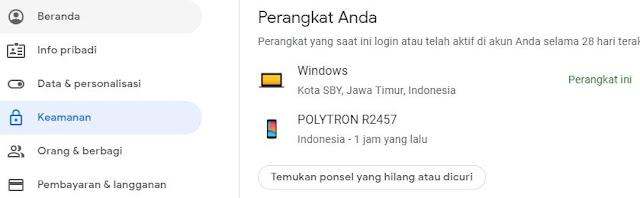 ponsel yang hilang atau dicuri