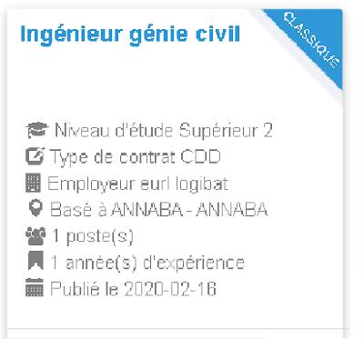 Employeur : eurl logibat Ingénieur génie civil