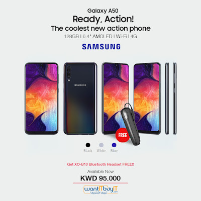 Free Bluetooth Headset With Samsung Galaxy A50 Smartphone
