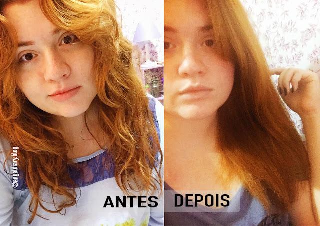 antes e depois alisamento
