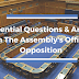 11 Essential Assembly Official Opposition Questions & Answers