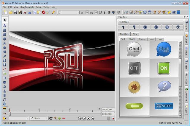 aurora-3d-animation-maker-screenshot