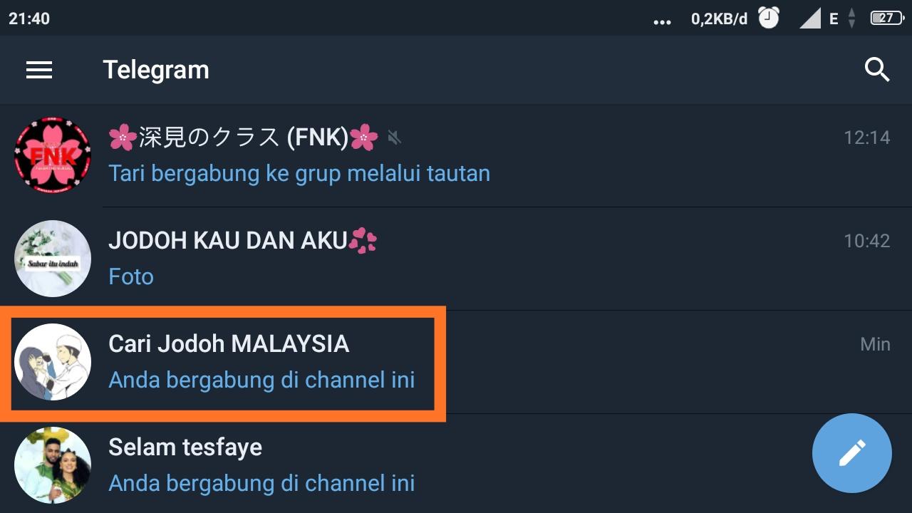 cara membuat link telegram menuju chat langsung