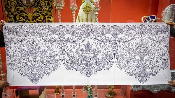 Nuevos bordados para la Virgen de la Trinidad de Cádiz