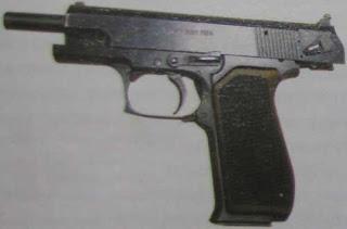 """9-мм пистолет ОЦ-27 """"Бредыш"""" с кожухом-затвором в крайнем заднем положении"""