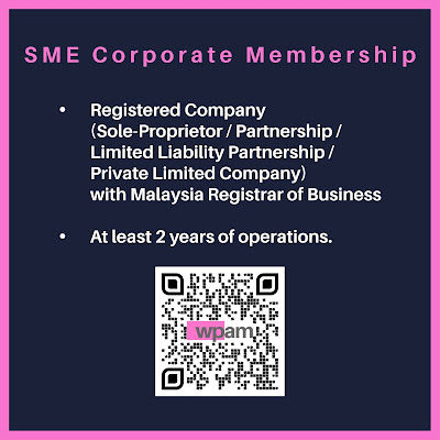 WEDDING PROFESSIONALS ASSOCIATION OF MALAYSIA (WPAM) membership Categories: SME Corporate Membership requirement