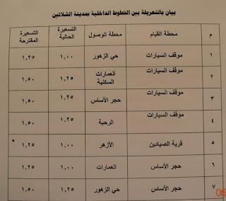 ننشر التعريفه الجديده للمواصلات داخل وبين المدن المصرية بعد زياده اسعار الوقود بجميع المحافظات FB_IMG_1562347891737