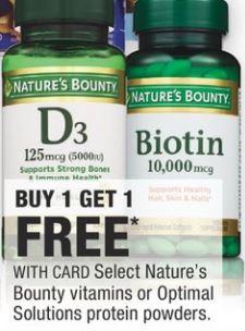 Nature's Bounty Vitamins.