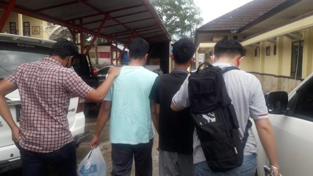 Polsek Kota Agung Tangkap Dua Terduga Pengedar Berikut 23 Paket Sabu Siap Edar