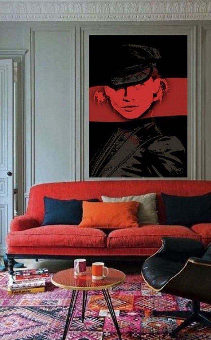 a review of living room decor red