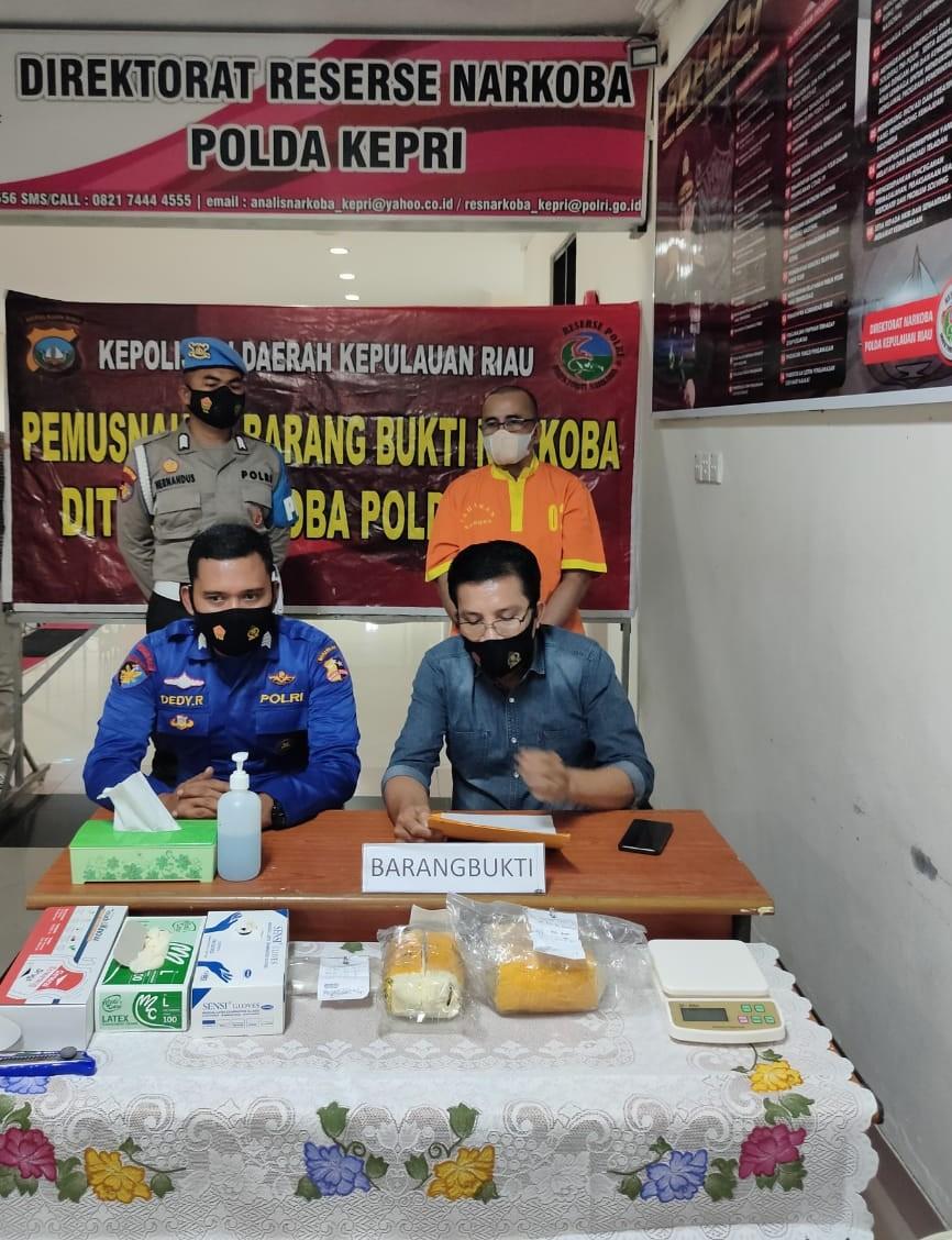 Sebanyak 1.637,1 Gram Narkotika Jenis Sabu Dimusnahkan Ditresnarkoba Polda Kepri