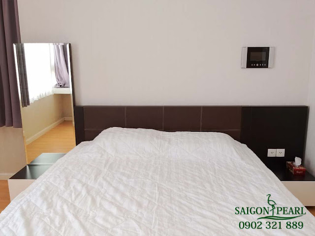 Phòng ngủ căn hộ Saigon Pearl cho thuê