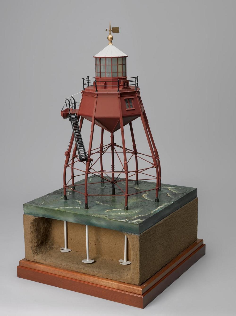 maplin screw pile lighthouse model