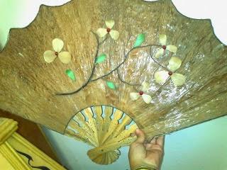 kipas kerajinan tangan dari kulit jagung