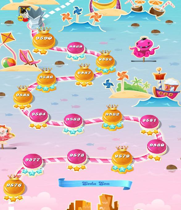 Candy Crush Saga level 9576-9590
