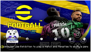 Download eFootball PES 2022 PPSSPP New Transfer And Menu Real Face HD Graphics