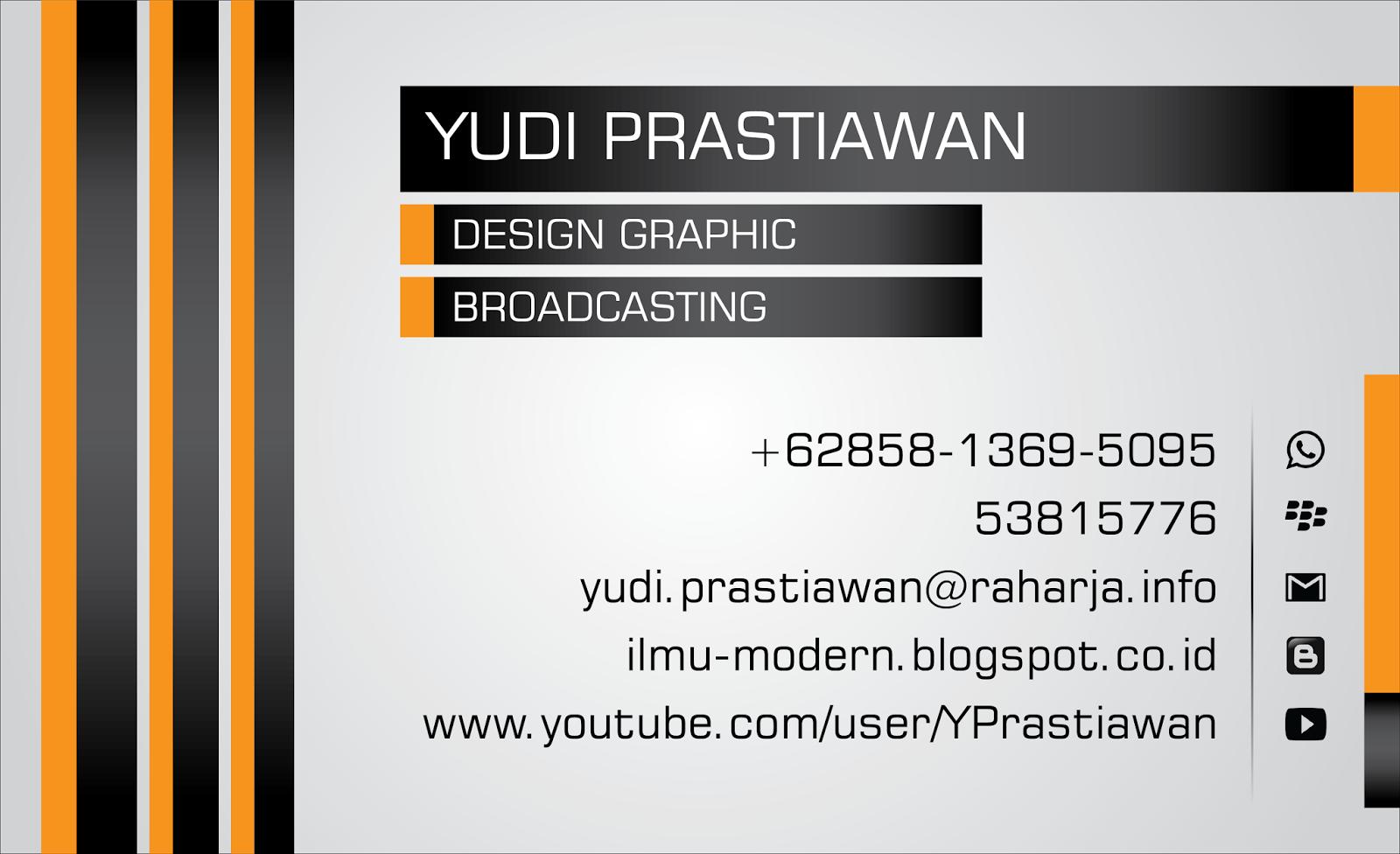 Desain Kartu Nama Raharja Career by Yudi Prastiawan