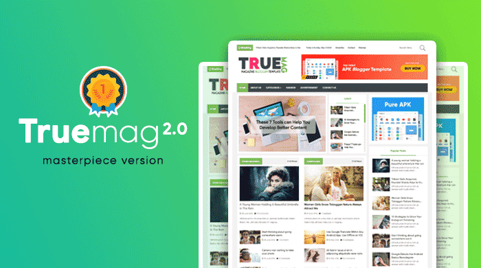 True Mag Magazine Premium Blogger Template Latest