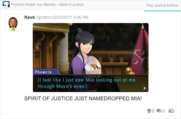Phoenix Wright Ace Attorney Spirit of Justice Mia Maya Fey