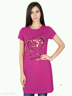 Elegant Cotton Women's T-shirts