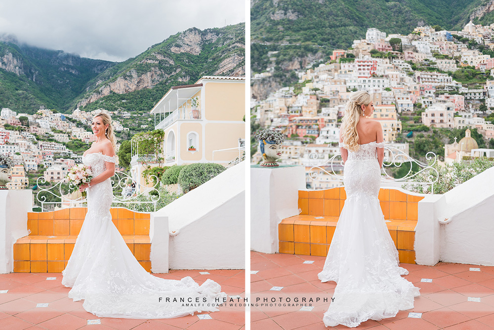 Bride with Positano view