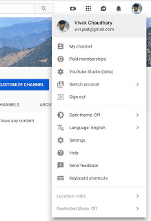 Change location on desktop YouTube