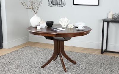 Black Round Dining Table