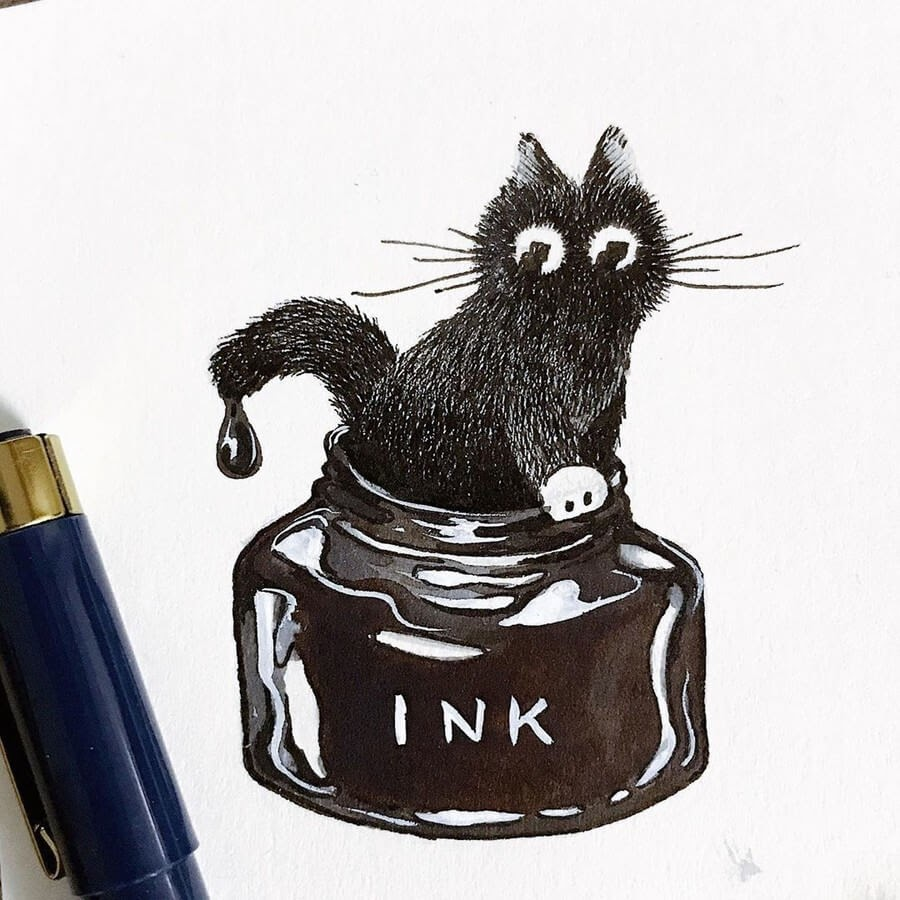 01-Ink-Cat-Asa-Ishino-www-designstack-co