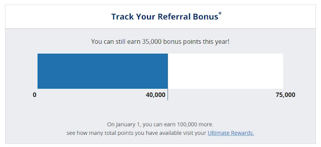 How to keep track of the Chase referrals?