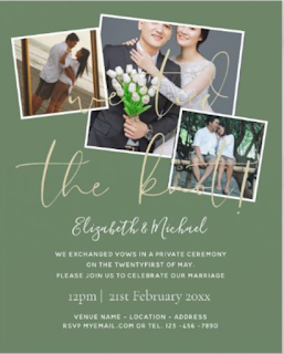 we eloped wedding announcement