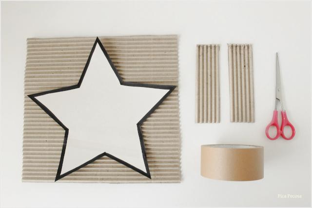 centro-mesa-navidad-estrella-carton-diy-materiales