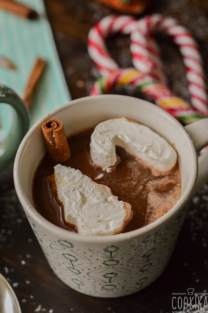 Hot Chocolate with Christmas Cubes