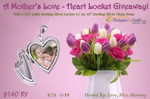 $140+ Pictures on Gold Sterling Silver Heart Locket Giveaway