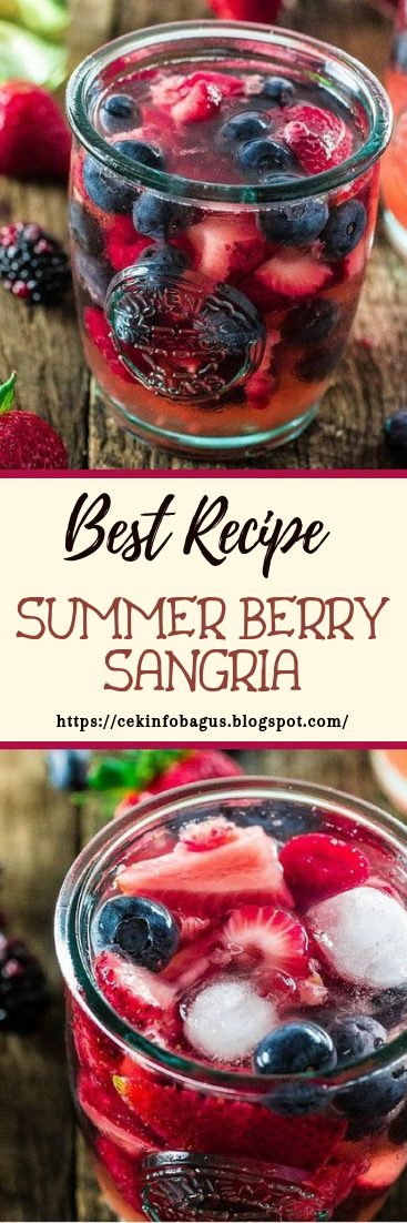 SUMMER BERRY SANGRIA #healthydrink #easyrecipe #cocktail #smoothie