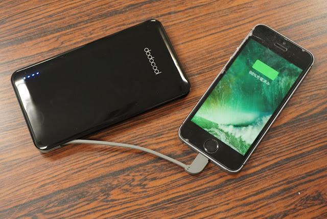 【dodocool モバイルバッテリー】ケーブル一体型で持ち運びも便利。10000mAhのdodocoolのモバイルバッテリーレビュー