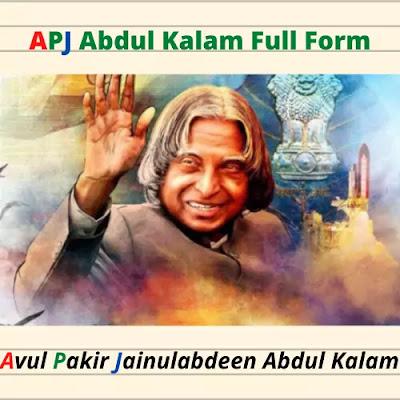 APJ Abdul Kalam Full Form