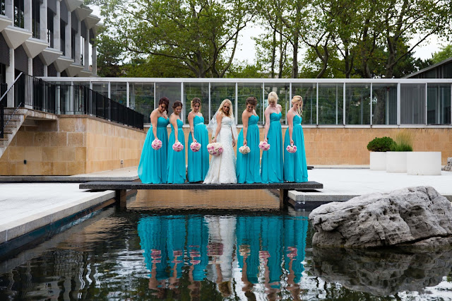 bridesmaids at wayne state McGregor Memorial Conference Center