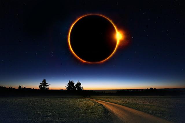 صورة مميزة من كسوف الشمس