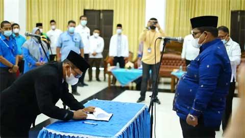 Bupati Lantik Aminuddin sebagai Direktur PDAM Padang Pariaman