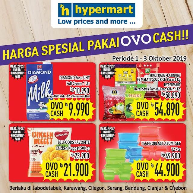 #Hypermart - #Promo Harga Spesial Pakai OVO Cash Periode 01 - 03 Okt 2019