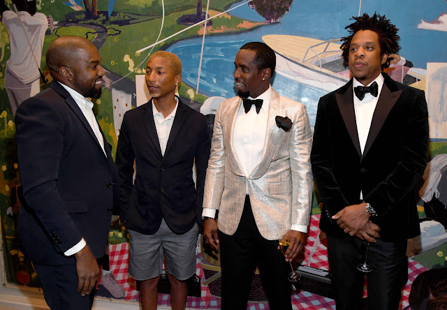 Jay-Z & Kanye West reunite at Diddy's star-studded 50th birthday party