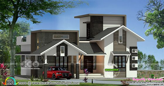 2 bedroom mixed roof budget home plan
