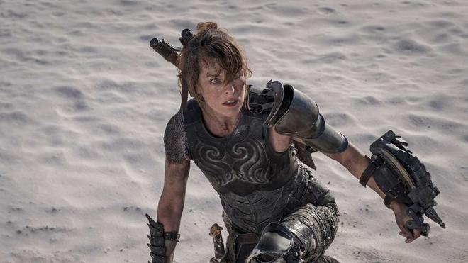 Milla Jovovich guerrera de videojuego