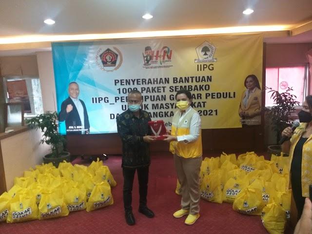 Meriahkan HPN 2021, IIPG Serahkan 1.000 Paket Sembako ke PWI Peduli Untuk Masyarakat