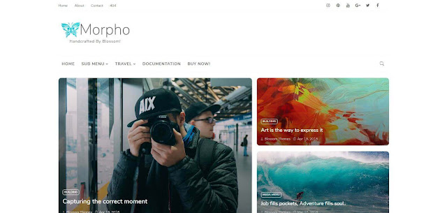 Morpho  Blogger Template